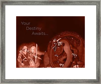Framed Print featuring the digital art Volcanic Destiny by Raphael Lopez