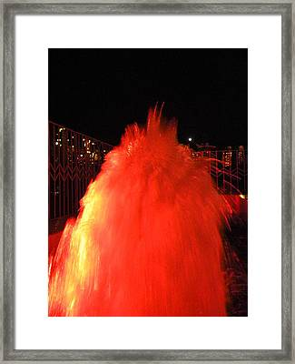 Volcanic Eruption Framed Print by Aim to be Aimless
