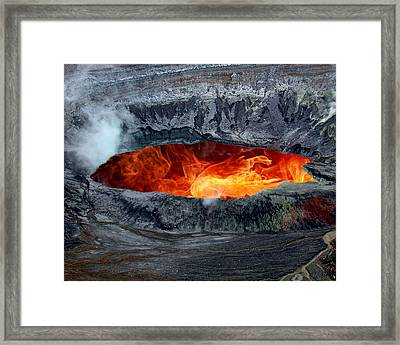 Volcanic Eruption Framed Print by Anthony Dezenzio