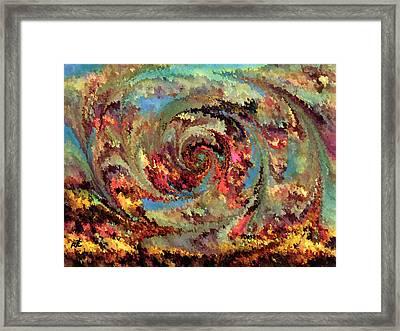Volcanic Eruption Framed Print by Rafi Talby