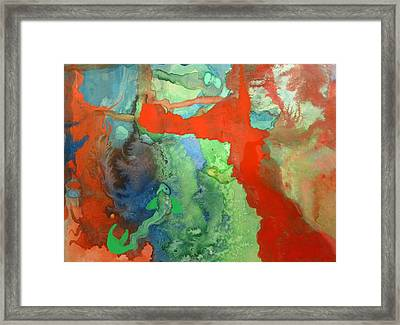 Framed Print featuring the mixed media Volcanic Island by Mary Ellen Frazee