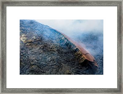 Framed Print featuring the photograph Volcanic Ridge by M G Whittingham
