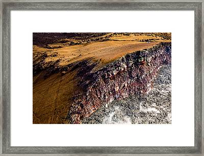 Framed Print featuring the photograph Volcanic Ridge II by M G Whittingham