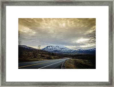 Volcanic Road Framed Print