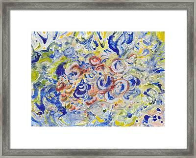Volcanic Sea Acrylic/water Framed Print