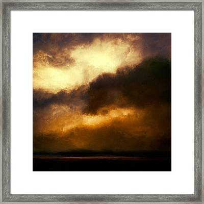 Volcanic Sky Framed Print by Lonnie Christopher
