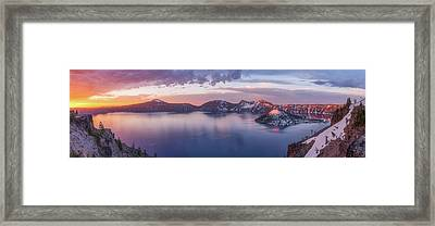 Volcanic Sunrise Framed Print by Darren White
