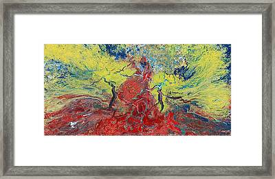 Volcanic Sunrise Framed Print