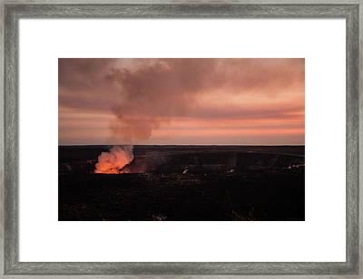 Volcanic Sunset Framed Print