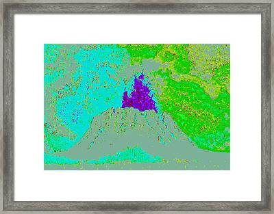 Volcano D4 Framed Print by Modified Image