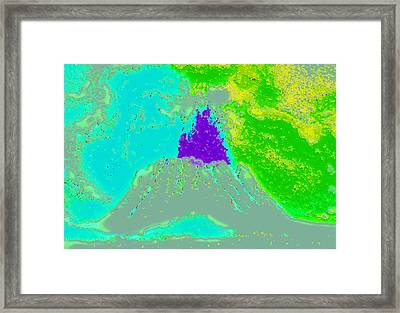 Volcano Dd4 Framed Print by Modified Image
