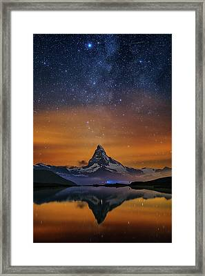 Volcano Fountain Framed Print