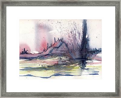 Volcano Framed Print by Susan Mott