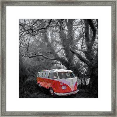 Volkswagen Camper Van Framed Print by Tilly Williams