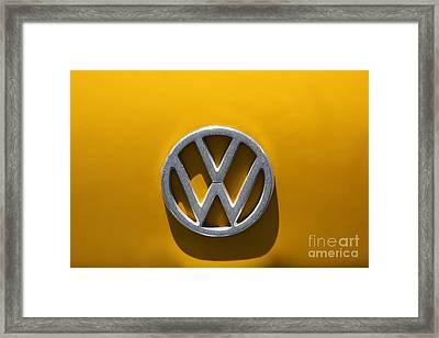 Volkswagen Crest Framed Print by Sophie Vigneault