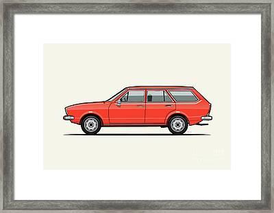 Volkswagen Dasher Wagon / Vw Passat B1 Variant Framed Print