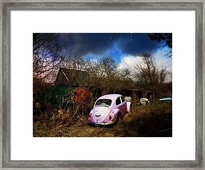 Volkswagen Graveyard Framed Print