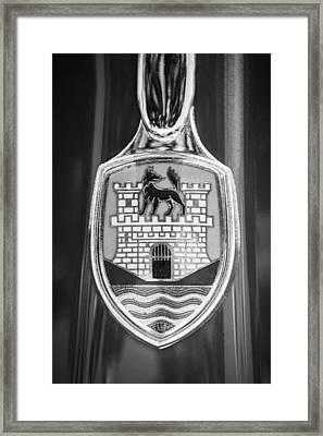 Volkswagen Vw Beetle Emblem -0949bw Framed Print by Jill Reger