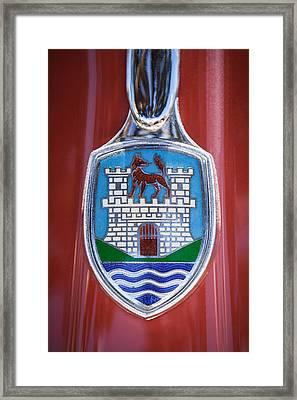 Volkswagen Vw Beetle Emblem -0949c Framed Print by Jill Reger