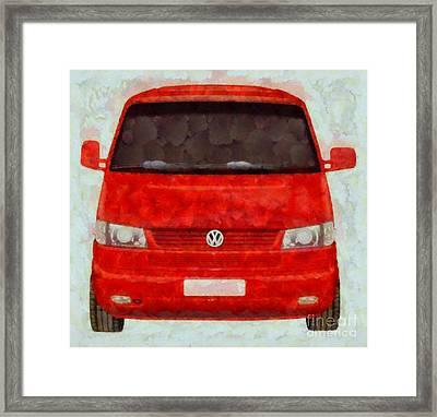 Volkswagon Pop Art Framed Print