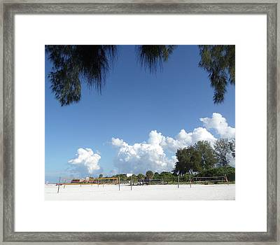 Volley View Framed Print by Pepsi Freund