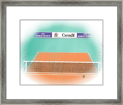 Volleyball Court Framed Print by Darren Cannell