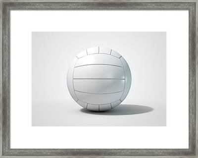 Volleyball Isolated Framed Print