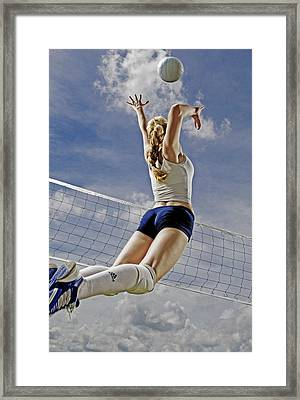 Volleyball Framed Print by Steve Williams