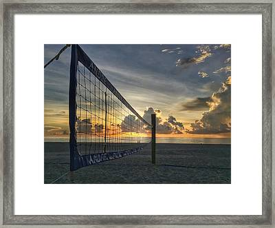 Volleyball Sunrise Framed Print