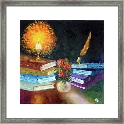 Volumes Of Knowledge Framed Print by Shilpi Singh