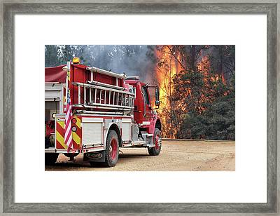 Framed Print featuring the photograph Volunteer Firefighters by JC Findley