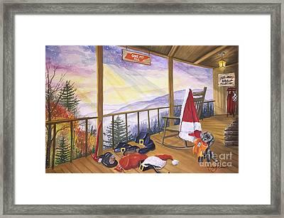 Volunteer Santa Framed Print