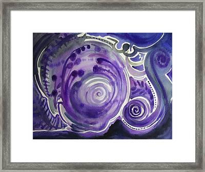 Violet Worlds Framed Print by Michael Richardson
