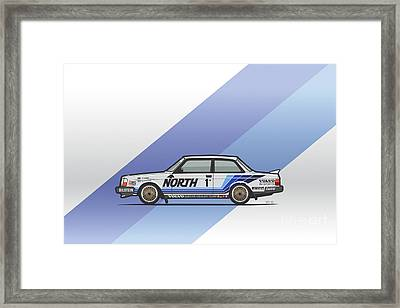 Volvo 240 242 Turbo Group A Homologation Race Car Framed Print by Monkey Crisis On Mars