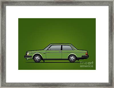 Volvo 242 Brick Coupe 200 Series Green Framed Print