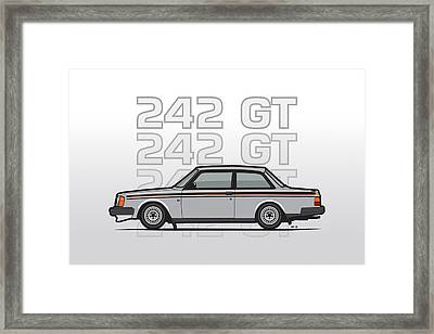 Volvo 242 Gt 200 Series Coupe Framed Print by Monkey Crisis On Mars