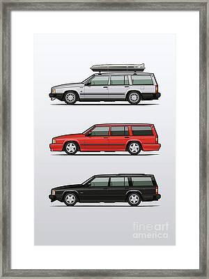 Volvo 740 745 Turbo Wagon Trio Framed Print