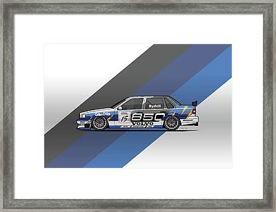 Volvo 850 Saloon Twr Btcc Racing Super Touring Car Framed Print by Monkey Crisis On Mars
