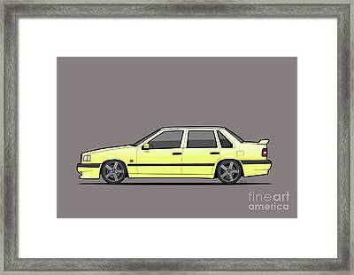 Volvo 850r 854r T5-r Creme Yellow Framed Print by Monkey Crisis On Mars