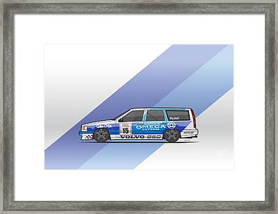 Volvo 850r Twr British Touring Car Championship  Framed Print by Monkey Crisis On Mars