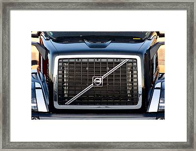 Volvo Blk And Silver Framed Print