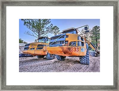 Volvo Heavy Equipment  Framed Print by JC Findley