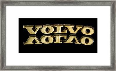 Volvo Framed Print by Jean Noren