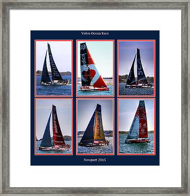 Volvo Ocean Race Newport 2015 Framed Print by Tom Prendergast