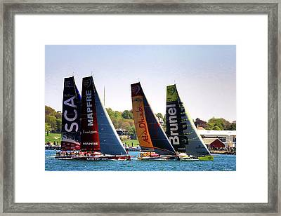 Volvo Ocean Race Newport Ri Framed Print by Tom Prendergast