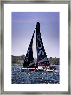 Volvo Ocean Race Team Sca Framed Print