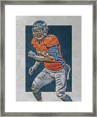 Von Miller Denver Broncos Art 2 Framed Print by Joe Hamilton