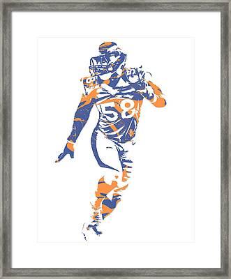 Von Miller Denver Broncos Pixel Art 10 Framed Print