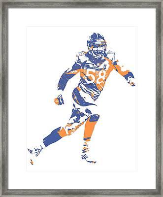 Von Miller Denver Broncos Pixel Art 11 Framed Print