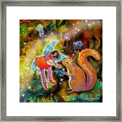 Vonita Twinkle With Forest Friends Framed Print